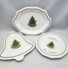 Pfaltzgraff Christmas Heritage Oval Bell Cookies for Santa Plates Platters EUC