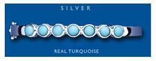 TURCHESE braccialetto argento sterling MASSICCIO PIETRA NATURALE