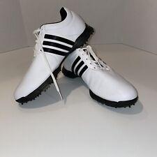 Adidas Traxion White & Black Men's Golf Shoes size 9 1/2