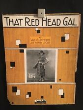 1923 That Red Head Gal Piano Sheet Music Book (Poster) Ruth Roye Henry Lodge