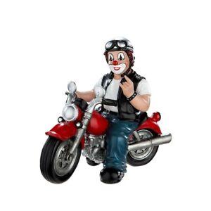 Dekofigur Indoor - Clown Heavy Biker - Sammelfigur Gildeclowns Clown-Figur ...