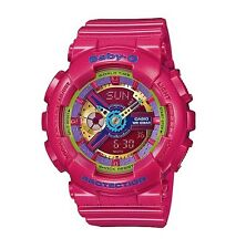 Casio Baby-G * BA112-4A Anadigi Gloss Metallic Pink for Women COD PayPal
