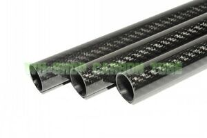 1pc 34MM ODX 32MM IDX 500MM 3K Carbon Fiber Tube/Pipe  with 100% full carbon