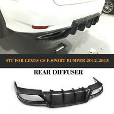 Carbon Firber Rear Bumper Diffuser Spoiler Fit for Lexus GS350 F-Sport 2013-2015