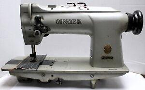 SINGER 212G145 Drop Feed 2-Needle 5/8 Gauge Lockstitch Industrial Sewing Machine