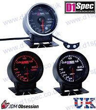 D1 SPEC UNIVERSAL TURBO BOOST GAUGE 2 BAR 60mm BLACK Dial JDM RACING RALLY DRIFT
