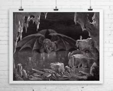 Satan Thinking Gustave Dore Fine Art Rolled Canvas Giclee Print 29x24 in.
