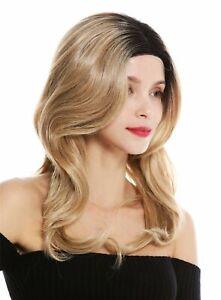 Wig Ladies Monofilament Parting Lace-Front Long Wavy Ombre Black Blonde