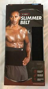Slimmer Black Belt 12 Inch Bally Total Fitness New