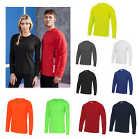 AWDis Just Cool Long Sleeve T-Shirt -Men Polyester gym/summer/sports/running tee