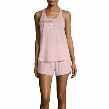 Ambrielle Sleepwear Tee Shorts PJ Set Bridal Bride Squad Pink Cotton NWT