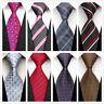 8-Style Mens Ties Necktie Silk Red Black Striped Business Formal Wedding Tie NEW