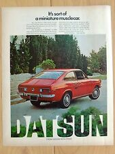 1972 DATSUN NISSAN 1200 SPORT LARGE COLOR MAGAZINE AD  13 x 10 1/2