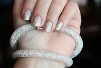 Bracelet collier stardust pourssiere d'étoile Swarovski® Elements résine BLANC