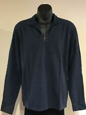 Abercrombie & Fitch T-SHIRT Mens Navy Blue 1/2 Zip Henley Tee Top Size XL NWT