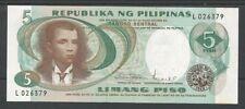 FILIPPINE / PHILIPPINES - 5 Piso ND (1969) UNC  Pick 143b