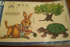 Vintage 1980 Meyercord Decal Rabbit Turtle Tree, Nursery, Craft