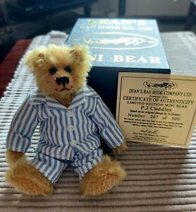 Deans Bears P J Cuddles Ltd 207/500 based on orig design by Jo Greeno box/cert