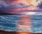 Original Sunrise Oil Painting On Canvas Ocean Sunset Seascape 8x10 From Artist