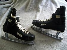 VINTAGE BAUER NHL APPROVED  ICE HOCKEY SKATES W/ ANKLE GUARDS MENS SIZE 11 NICE