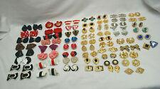 Vintage Shoe Clips Asst'd Brands,Materials,Colors,Styles 58-Prs&2-Singles S9271