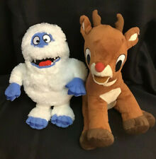 Abominable Snowman & Rudolph The Red Nosed Reindeer Plush 12� Plush No Tags Used