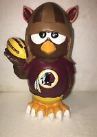 (1) Washington Redskins Thematic Owl NFL Garden Statue by Forever Collectibles
