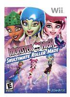 Monster High Skultimate Roller Maze Nintendo Wii/U Kids Game For Girls Skating
