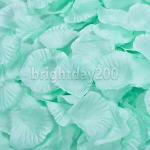 100-10000 Silk Rose Petals Artificial Flowers Wedding Party Confetti Mint green