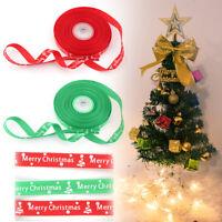25 Yards Christmas Gift Grosgrain Ribbon Bows Christmas Party DIY NICE