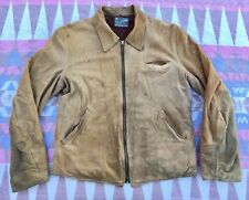 Vtg 40s 50s Lambliner Leather Jacket Soft Suede Western Motorcycle Mens Sz S/M