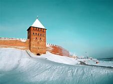 ART PRINT POSTER PHOTO LANDMARK BRICK FORTRESS NOVGOROD RUSSIA LFMP1199