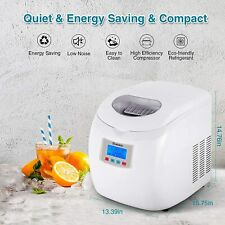 Moosoo Ice Maker Countertop Auto Self-Cleaning Ready in 12 Minutes - White