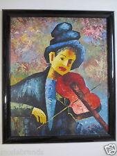 """Bild Gemälde """"Geigerin"""" moderne Kunst 50x60 Original Frau mit Geige/GB"""