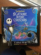 Vintage 1993 Tim Burton's NIGHTMARE BEFORE CHRISTMAS Pop-Up Disney Book