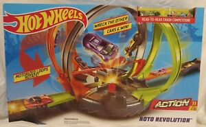 Mattel Hot Wheels Roto Revolution Action Set with 2 cars FDF26