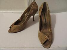 WOMENS LAUNDRY BY SHELLI SEGAL GOLD MATERIAL & RHINESTONE SHOES SIZE 7 1/2