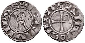CRUSADERS (1163-1188 AD) Bohemond AR Denier. Antioch #CR 8157