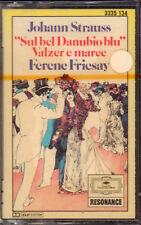 "F. FRICSAY ""STRAUSS SUL BEL DANUBIO BLU (VALZER E MARCE)"" MUSICASSETTA SIGILLATA"