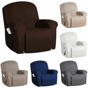 Stretch Single Recliner Slipcover Furniture Armchair Cover Protector Side Pocket