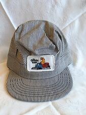 New! CP Rail Striped Train Conductor Hat 'The Grain Team' Canadian Pacific (111)