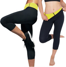 Damen Neoprene Hosen Thermo Sporthose Schwitzhose Sport Yoga Fitness Gym Shaper