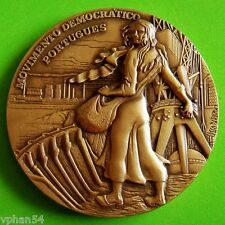 Woman / Landscape / Industry Factory /Artistic Big Bronze Medal by BERARDO M. 21