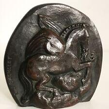 Rare Emile-Just Bachelet Bronze représentant Pégase cheval ailé bas Art déco