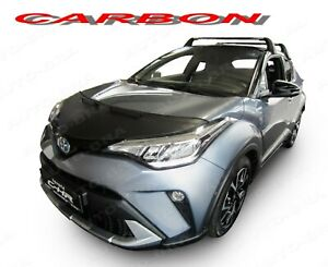 CARBON LOOK HOOD BRA fits TOYOTA C-HR since 2017 NOSE FRONT END MASK