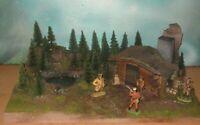 """ Canada -Die Trapper ""  - TOP DIORAMA 1:32, Timpo Toys, Elastolin."