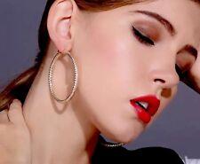 Girl Gift Jewellery 18k Gold Plated Large Hoop Earrings Creole 60mm Lightweight