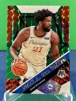 2019-20 Panini Prizm Mosaic Joel Embiid Will To Win Green Mosaic SP #17 76ers