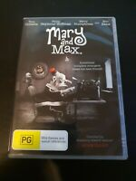 Mary & Max DVD Region 4 Animation Toni Collette Eric Bana Barry Humphries