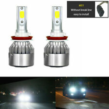 2x Combo H11 LED Headlight Bulb Conversion Kit High Low Beam Fog Light 6000K
